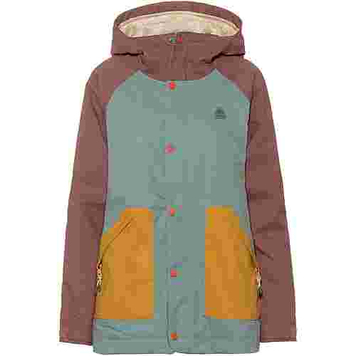Burton Eastfall Snowboardjacke Damen rose brown/trellis/harvest gold