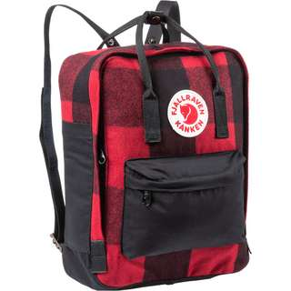 FJÄLLRÄVEN Rucksack Kanken RE-Wool Daypack red-black