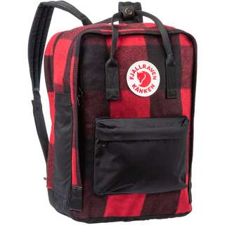 "FJÄLLRÄVEN Rucksack Kanken RE-Wool Laptop 15"" Daypack red-black"