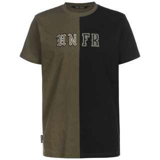 Unfair Athletics Old English Mixed T-Shirt Herren schwarz / oliv