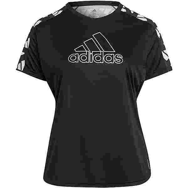 adidas PLUS SIZE Funktionsshirt Damen black