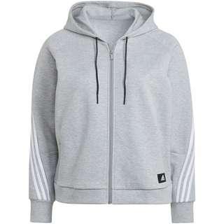 adidas Sweatjacke Damen medium grey heather-white