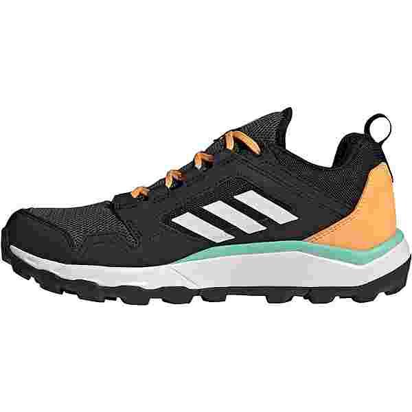 adidas GTX Agravic Trailrunning Schuhe Damen core black-ftwr white-hazy orange