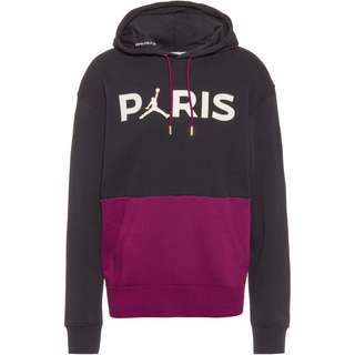 Nike Paris Saint-Germain/Jordan Hoodie Herren black-bordeaux-metallic gold-white
