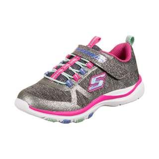 Skechers Lite Jazzy Jumper Sneaker Kinder grau / pink