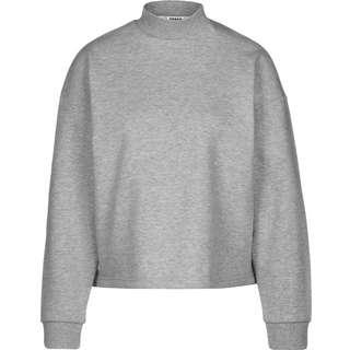 Urban Classics Oversized High Neck Crew Sweatshirt Damen grau/meliert