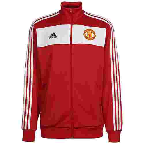 adidas Manchester United 3-Streifen Sweatjacke Herren rot / weiß