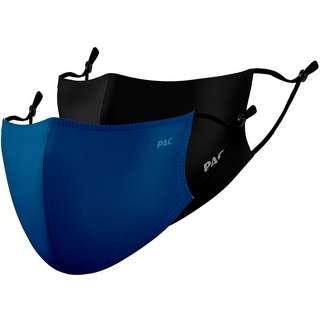 P.A.C. 2ER PACK LIGHTWEIGHT COMMUNITY MASK Gesichtsmaske blue/total black