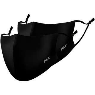 P.A.C. 2ER PACK LIGHTWEIGHT COMMUNITY MASK Gesichtsmaske total black-total black