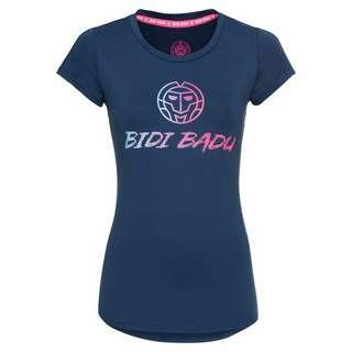 BIDI BADU Coletta Basic Logo Tee Tennisshirt Damen dunkelblau