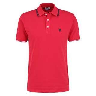 U.S. Polo Assn. Polo Barney Poloshirt Herren red