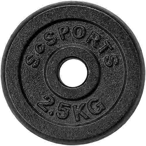 ScSPORTS Hantelscheibenset 20 kg Guss 8 x 2,5 kg Hantelscheiben Schwarz