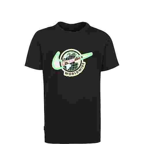 Nike Global T-Shirt Kinder schwarz / neongrün