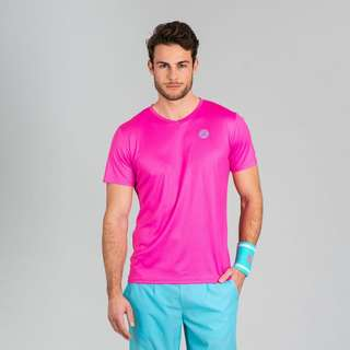 BIDI BADU Ted Tech Tee Tennisshirt Herren pink/mint