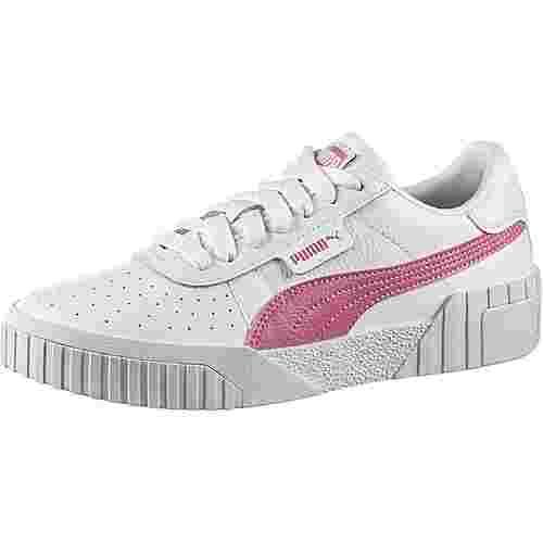 PUMA Cali Sneaker Damen puma white-foxglove-puma black