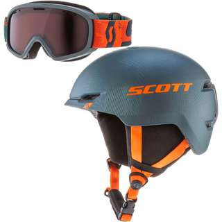 SCOTT Combo Keeper 2+Goggle Jr Witty Skihelm Kinder sombre green-pumpkin orange