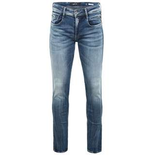 REPLAY Anbass Straight Fit Jeans Herren medium blue