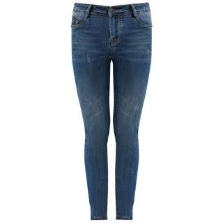 Finn Flare Slim Fit Jeans Damen denim