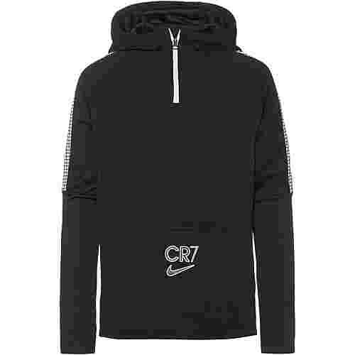 Nike CR7 Hoodie Kinder black-white-iridescent