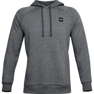 Under Armour Rival Hoodie Herren pitch gray light heather-onyx white