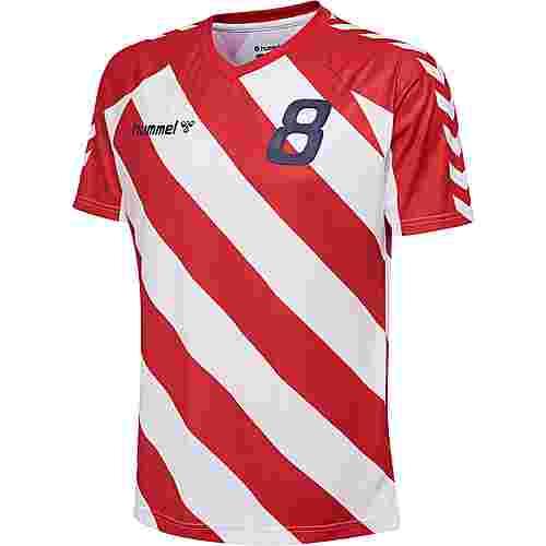 hummel T-Shirt Herren TRUE RED/WHITE