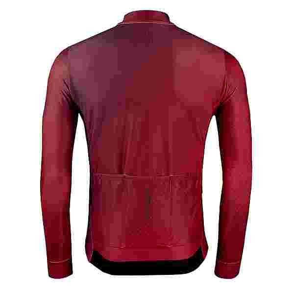 PERCY MASH Cryo line Thermal Long Sleeve Fahrradtrikot Herren Ruby Reds