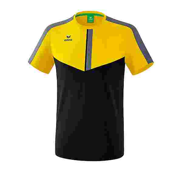 Erima Squad T-Shirt Funktionsshirt gelbschwarzgrau