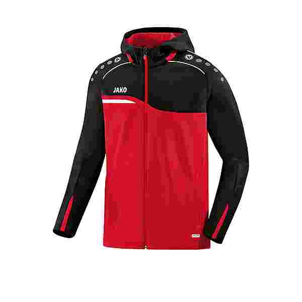 JAKO Competition 2.0 Kapuzenjacke Kids Trainingsjacke Kinder rotschwarz