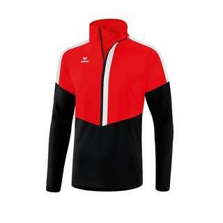 Erima Squad Ziptop Funktionssweatshirt rotschwarzweiss