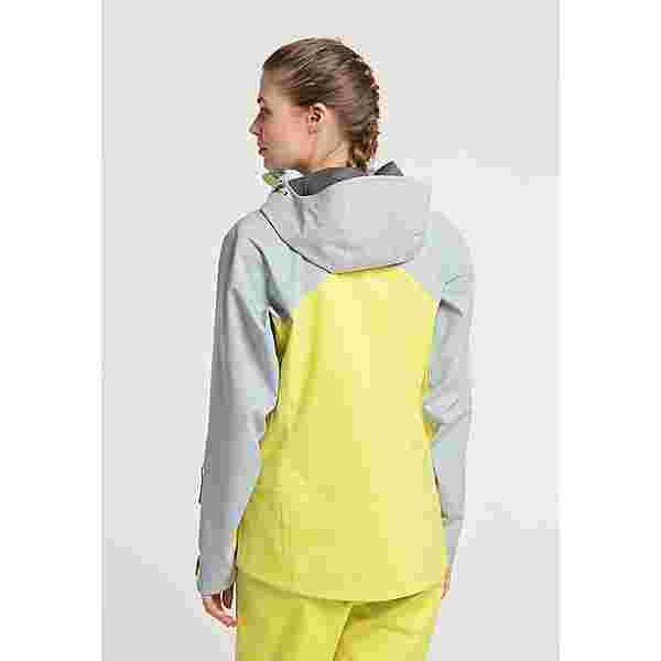 PYUA Trace Skijacke Damen french grey lemon yellow