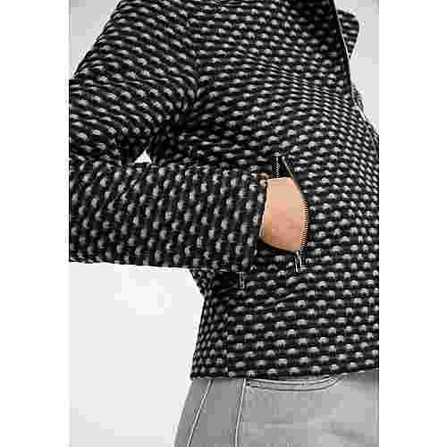 MYMO Kurzjacke Damen schwarz weiß