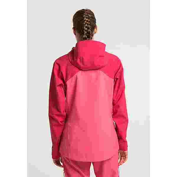 PYUA Trace Skijacke Damen jalapeno red paradise pink