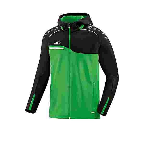JAKO Competition 2.0 Kapuzenjacke Kids Trainingsjacke Kinder gruenschwarz