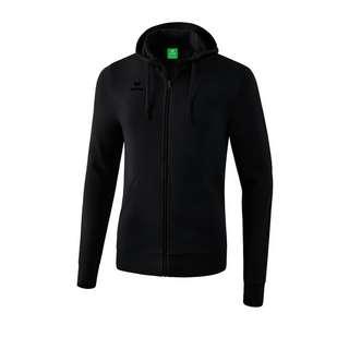 Erima Basic Kapuzenjacke Dunkel Trainingsjacke schwarz