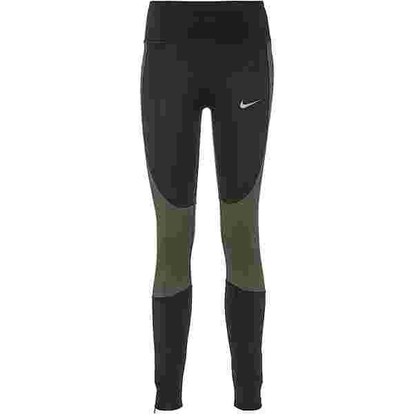 Nike Epic Lux Run Division Lauftights Damen black-newsprint-reflect black
