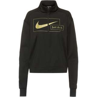 Nike Funktionsshirt Damen black-metallic gold
