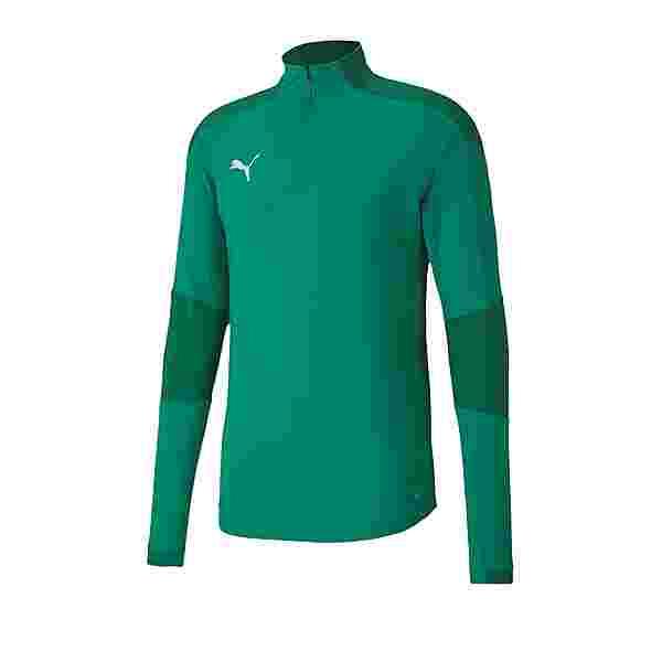 PUMA teamFINAL 21 Training 1/4 Zip Top Funktionssweatshirt Gruen
