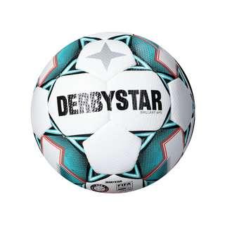 Derbystar Brillant APS V20 Spielball Fußball weissgruenschwarz