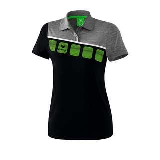 Erima 5-C Poloshirt Damen Poloshirt Damen SchwarzGrauWeiss