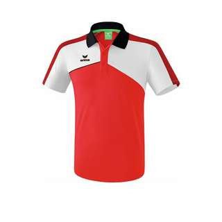 Erima Premium One 2.0 Poloshirt Poloshirt Herren rotweissschwarz