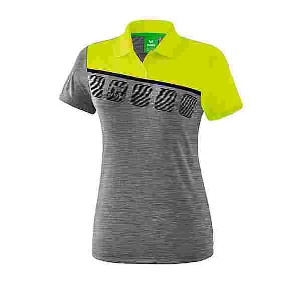 Erima 5-C Poloshirt Damen Poloshirt Damen GrauGruenSchwarz