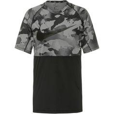 Nike Camo Funktionsshirt Herren black-grey fog
