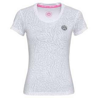 BIDI BADU Anni Burnout Tech Tee Tennisshirt Damen weiß