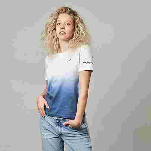 BIDI BADU Boozy Ball Damen T-Shirt Tennisshirt Damen blau/weiß
