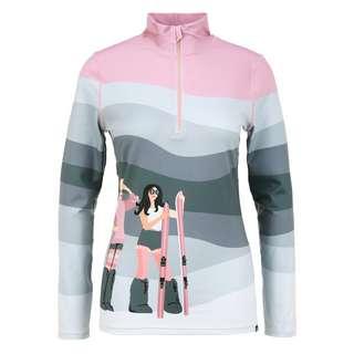 Krimson Klover Peace Love Ski Layerlangarmshirt Damen mid grey