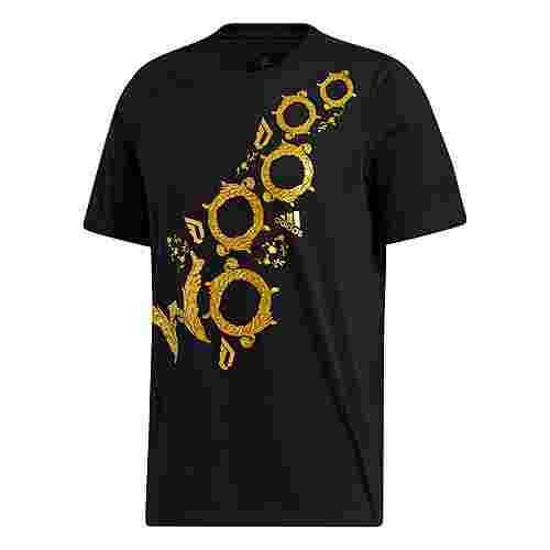 adidas Dame Drip T-Shirt T-Shirt Herren Schwarz