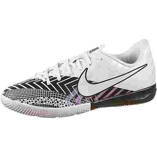 Nike JR Mercurial VAPOR 13 ACADEMY MDS IC Fußballschuhe Kinder white-white-black