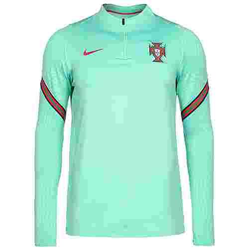 Nike Portugal Dry Strike Drill EM 2021 Funktionssweatshirt Herren mint / rot