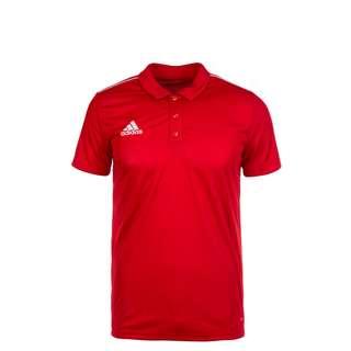 adidas Core 18 Poloshirt Kinder rot / weiß