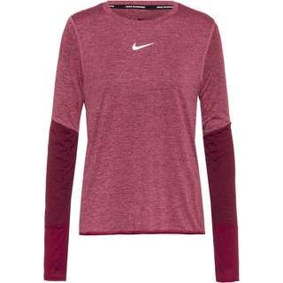Nike Runway Funktionsshirt Damen dark beetroot-black-reflective silv